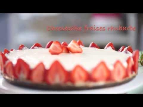 recette-cheesecake-fraises-rhubarbe
