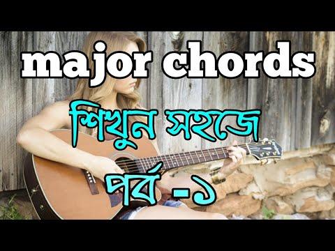 how to play major chords   bangla guitar tutorials   d major   g ...