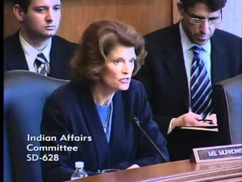 Senator Murkowski Opening Statement at Indian Affairs Committee Hearing 3/22/12
