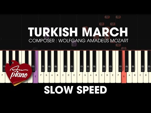 Mozart - Turkish March - SLOW Easy Piano Tutorial