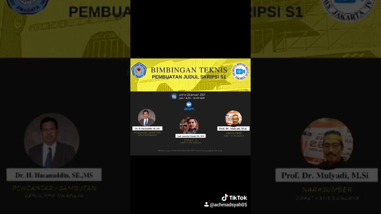Seminar Penulisan Judul Skripsi Youtube