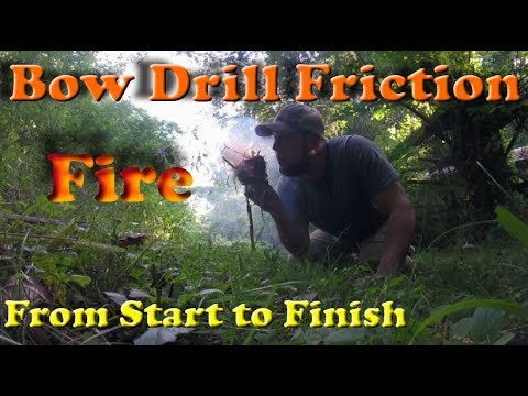 Bow Drill Friction Fire; from start to finish