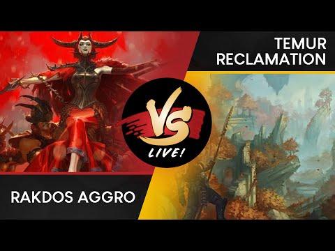 VS Live!   Rakdos Aggro VS Temur Reclamation   Ravnica Allegiance Previews   Match 2