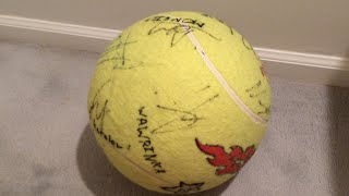Autographed Giant Tennis Ball - US Open