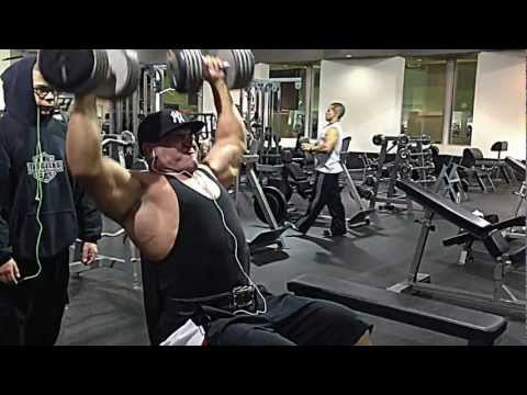 Seated Dumbbell Shoulder Presses