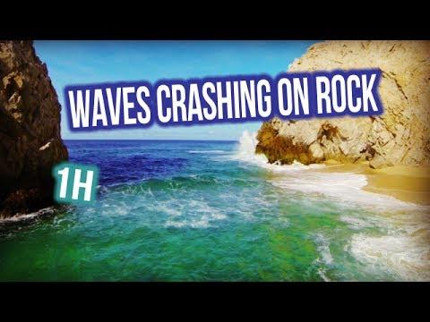 1h waves CRASHING on ROCK | relax & sleep | calm down | asmr | nature sound
