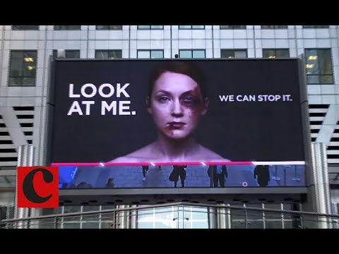 Look At Me: Women's Aid interactive billboard