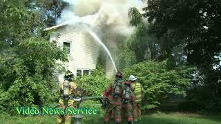 ORLEANS COUNTY/Fire companies from two counties respond to a house fire in Barre