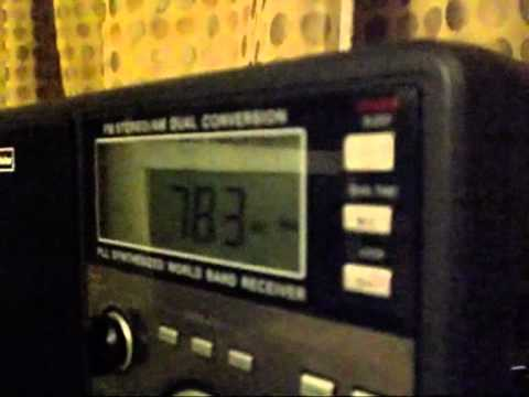 Radio Damascus, Syria 783 Medium Wave, between 18th to 25th November 2011