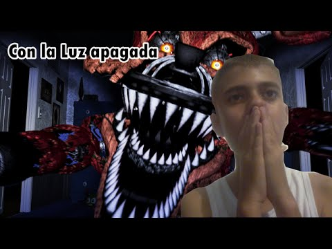 JUGANDO Five Nights at Freddy´s 4 CON A LUZ APAGADA | RenipRep.