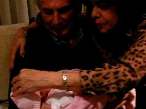 Natalia Sofia with Grand Parents in Bogota, Colombia