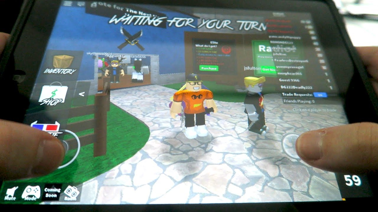 Playing Roblox On My Ipad Youtube