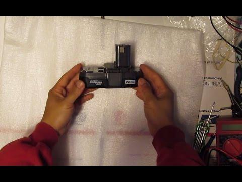 DIY: How to Revive a dead Ryobi 18V Li-Ion cordless power tool battery, plan B