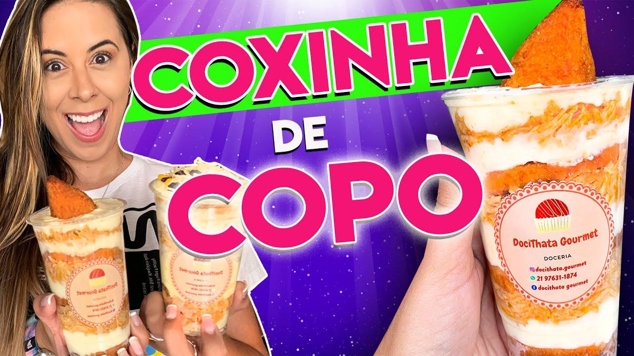 COXINHA DE COPO: pavê de coxinha