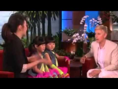 Zony and Yony Meet Ellen May 8, 2014