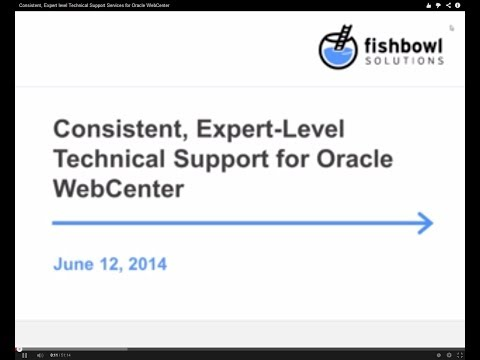 Consistent, Expert level Technical Support Services for Oracle WebCenter