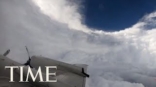 Here's What It Looks Like To Fly Directly Into The Eye Of Hurricane Florence | TIME
