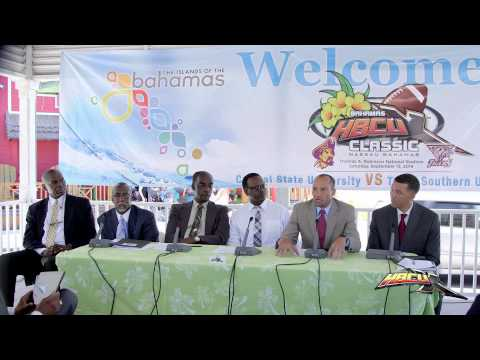 Bahamas HBCUX Classic 2014 Press Conference
