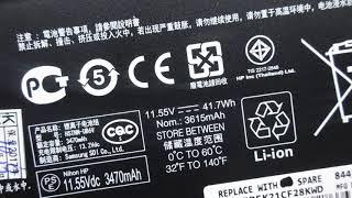 Original NU03XL HSTNN-UB6V 41.7Wh Battery for HP Pavilion x360 11-u000 11-u113tu Series