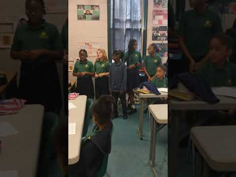 Inner city school in FL these babies are so respectful and can sing.