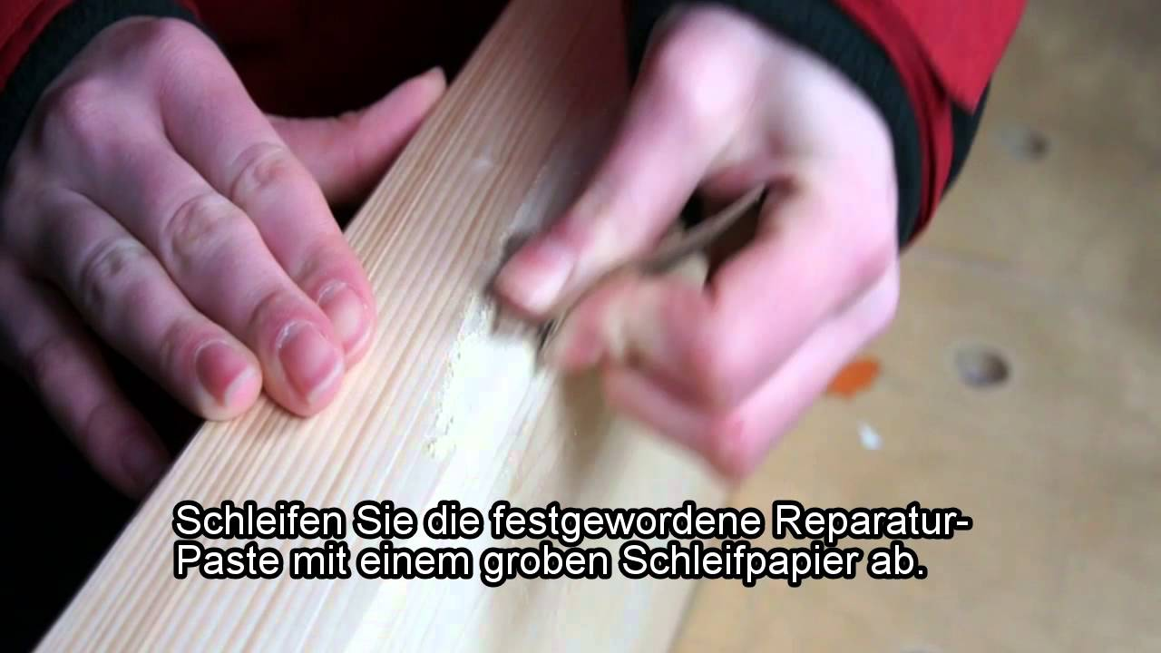 holz reparieren holzreparatur youtube. Black Bedroom Furniture Sets. Home Design Ideas