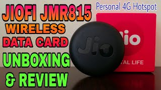 JIOFI 6 | JMR815 Wireless Data Card Unboxing & Review | Personal 4G Hotspot