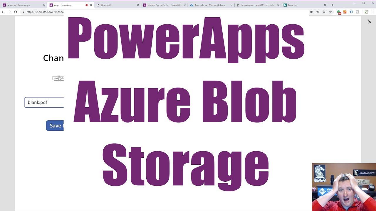 powerapps azure blob storage connector