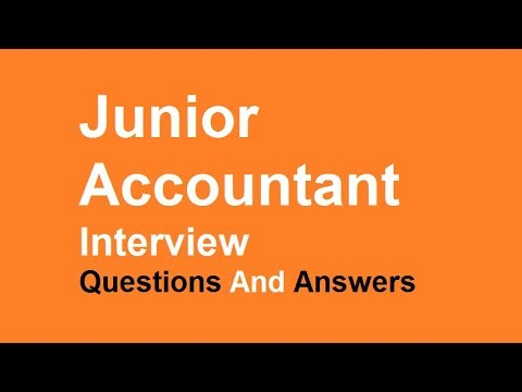 Junior Accountant Interview Questions And Answers