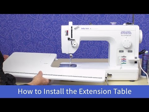 How to Install the Extension Table on the Baby Lock Accomplish