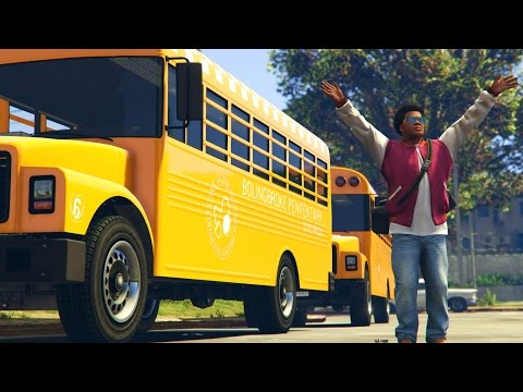 GTA 5 Mods - BACK TO SCHOOL MOD! (GTA 5 PC Mods)