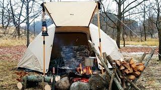 キャンプ場でクラフトを楽しむ【リスクッカーと新幕】SoloCamping