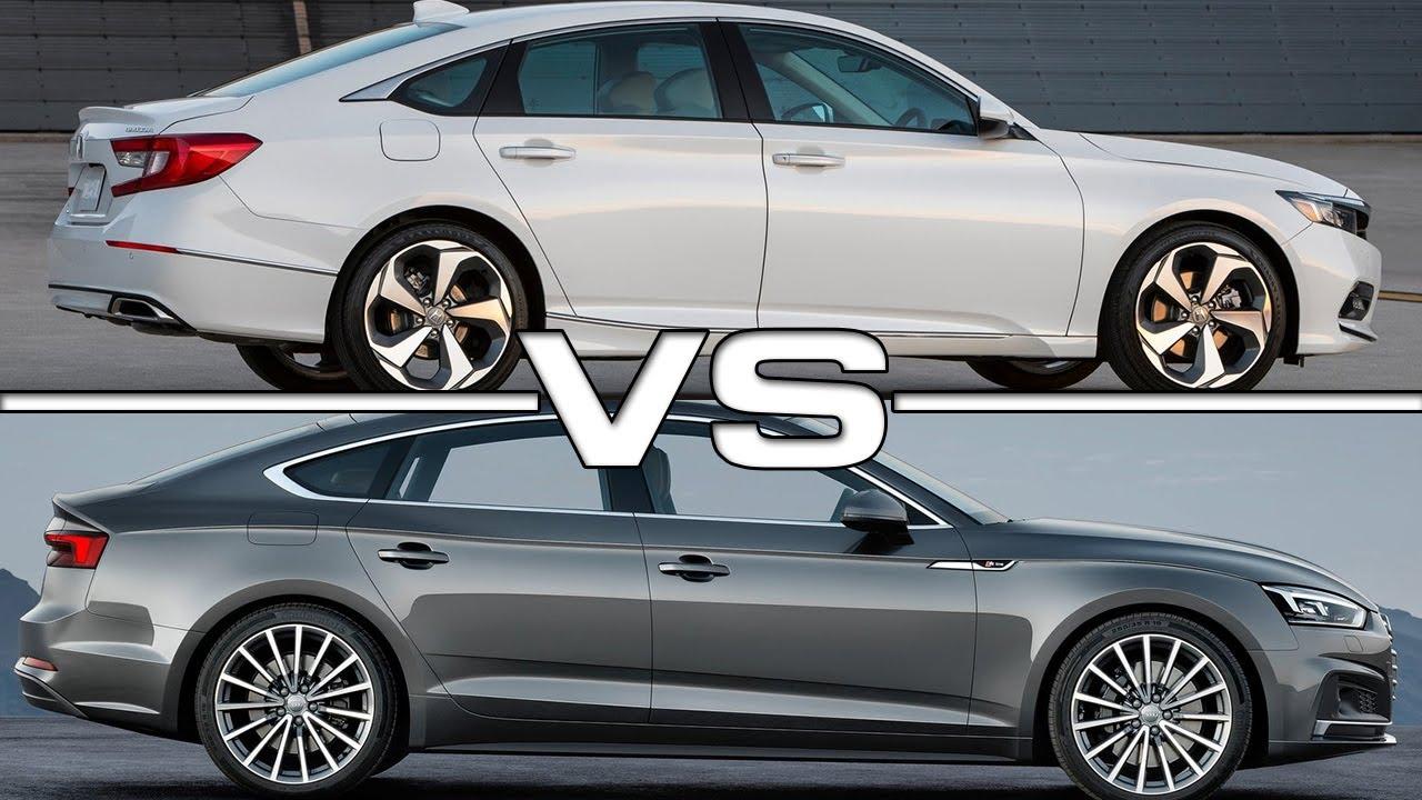 Honda Accord Vs Ford Fusion >> 2018 Honda Accord vs 2017 Audi A5 Sportback - YouTube