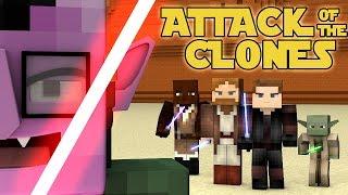 minecraft parody star wars attack of the clones minecraft animation