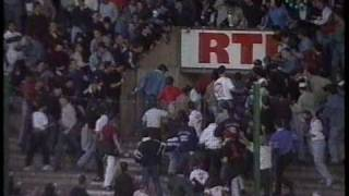 Police attacked by football hooligans