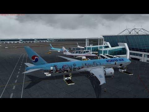 [P3d V4] PMDG 777 Korean air 855 Seoul to Beijing on vatsim international  event