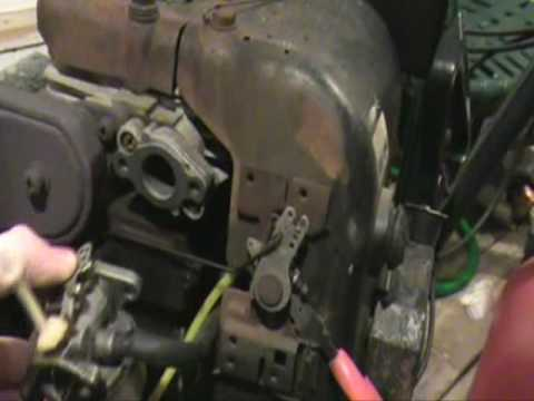 kohler engine ignition switch wiring diagram fixing the throttle governer linkage youtube  fixing the throttle governer linkage youtube