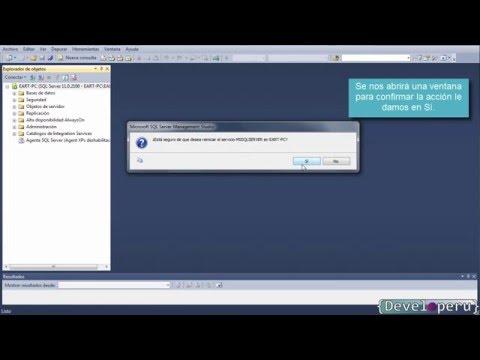 Habilitar usuario sa en SQL Server