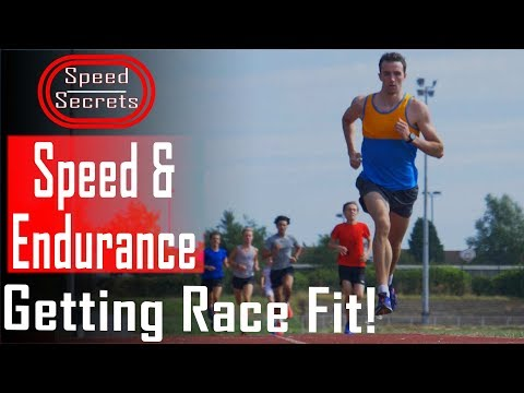 ENDURANCE TRAINING! Middle distance track session to maintain speed and build stamina.