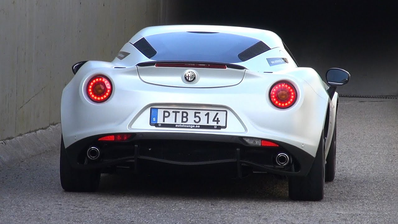 alfa romeo 4c launch edition lovely exhaust sounds youtube. Black Bedroom Furniture Sets. Home Design Ideas