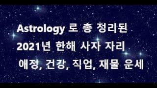 Astrology 로 총 정리해서 보는 2021년  사자 자리 애정, 직업, 건강, 재물 운세