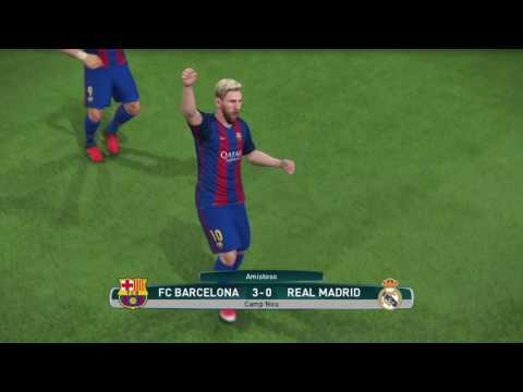 PES 2017: BARCELONA x REAL MADRID - 14º RODADA DO CAMPEONATO ESPANHOL
