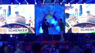Dj Tikoy Chiu and Dj Chiki hosting DB Schenker Christmas Party