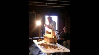 Allan Breed Carving A Ball And Claw At The Wentworth Lear Historic Houses