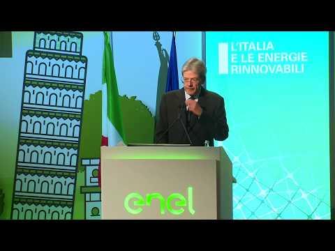 """Il Presidente Gentiloni interviene al convegno """"L'Italia e le energie rinnovabili"""" (05/12/2017)"""