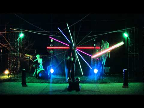 Bleigh Halloween Light Show 2011 - Five Finger Death Punch - Far From Home