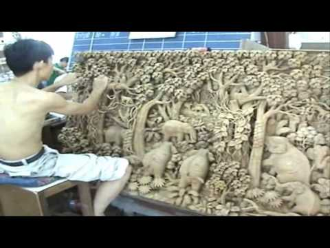 Intricate Thai Wood Carving Art Youtube
