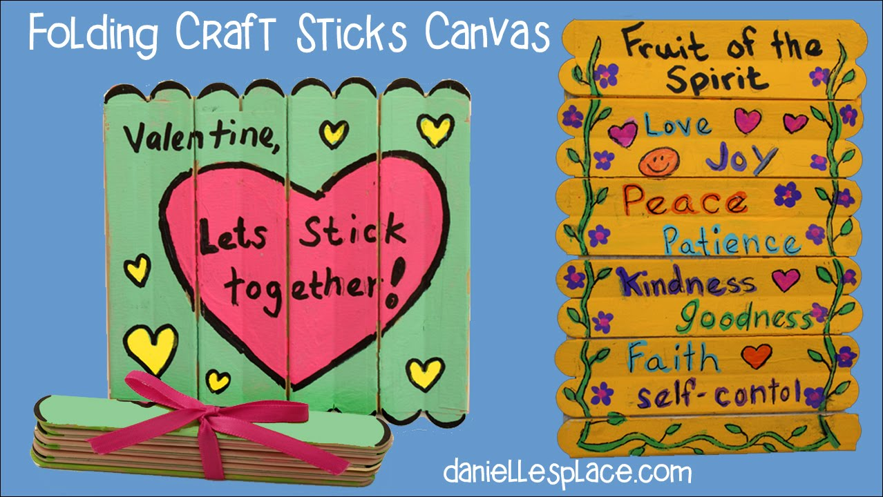 folding craft stick or popsicle stick canvas craft   view