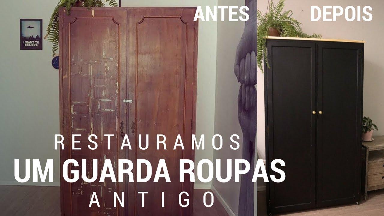 532de837ed15c COMO REFORMAMOS UM GUARDA ROUPAS ANTIGO DE MADEIRA
