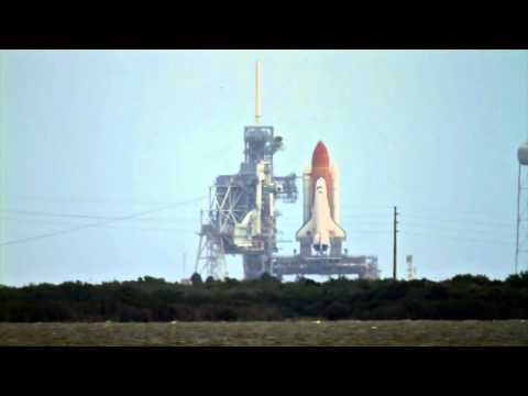 STS-135 Space Shuttle Atlantis final launch from NASA Causeway - HD