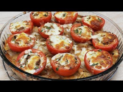 repas-de-pommes-de-terre-et-tomates-farcies-gratinÉes-trop-facile-(cuisine-rapide)